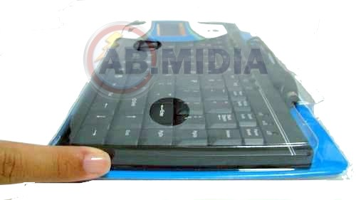 Mini Teclado Multimidia Slim Usb 2.0/1.1 + Adaptador PS/2