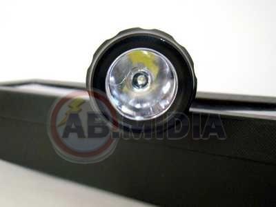 Lanterna Tatica Alumínio 24 Cm 10w Led 3 Modos Strobo
