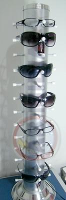 Expositor Para 13 Oculos Armações Pvc Aluminio Loja Comercio