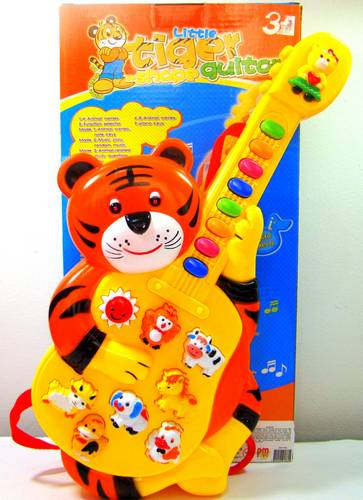 Guitarra Musical Tigre Infantil Sons de Animais Educativa