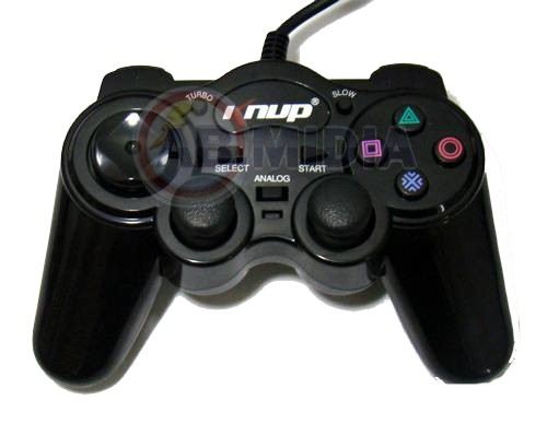 Controle 3x1 Pc Ps1 Ps2 Double Shock 3 Analogico 14 Botoes