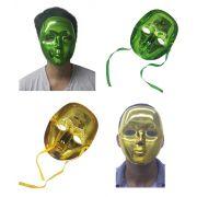 Kit 2 Mascaras Metalizadas Para Carnaval Festa Baile Halloween Fantasia (BL-0258-4)