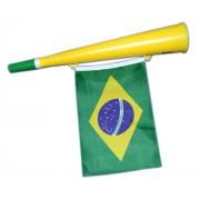 Corneta Bandeira Brasil Kit 12 Unidades Torcida Copa do Mundo Jogo Selecao Brasileira (2014-11)