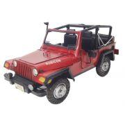Jeep Vintage Militares  Miniatura Militar De Metal Veiculo Vermelho (CJ-004)