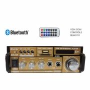 Amplificador Bluetooth Audio Controle Portatil Usb Karaoke (BT-118BT)