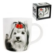 Caneca Copo I love dog Cachorro Yorkshire 320ml Porcelana (DMP5203)