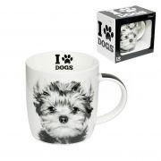 Caneca Copo Pet Cachorro Yorkshire 320ml Porcelana (DMP5203)