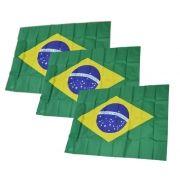 Bandeira Grande do Brasil Kit 12 Unidades Torcida Estadio Jogo Copa (2014-59)