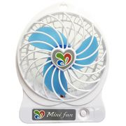 Mini Ventilador Portatil com Bateria Carregavel Usb para Notebook e Pc Cor Branco (JA90394)