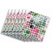 Papel De Parede Painel Pastilha Adesivo 3D Auto Adesivo Flor 6 unidades (888357)