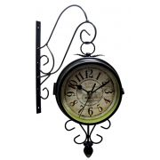 Relogio De Parede Dupla Face Vintage Decorativo Paris Retro (rel-27)