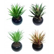 Suculenta Planta Artificial Kit 4 Und Festa Decoracao Novo (kit-BSL-SH-4)