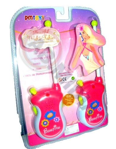 Walkie Talkie Intercomunidador Infantil Walk Talk Rosa Par
