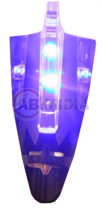 Antena Veicular Barbatana com leds Decorativo Acessorio