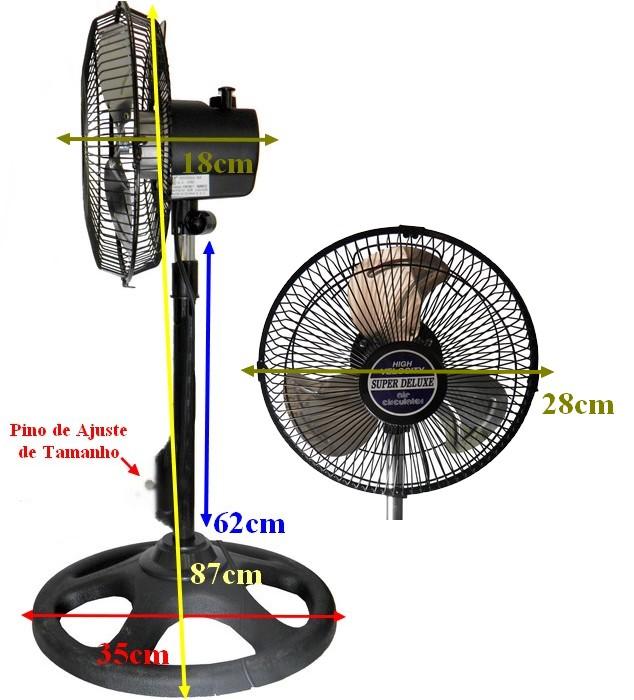 Ventilador Circulador 10 polegadas Turbo Velocidade Moderno