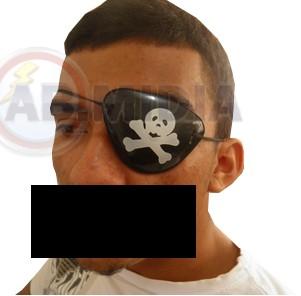 Tapa Olho Pirata Acessorio Fantasia P/ Carnaval halloween
