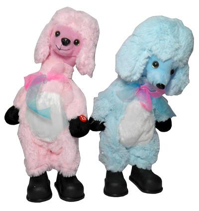 Cachorro Poodle Pelucia Eletronico Brinquedo Criança Musical