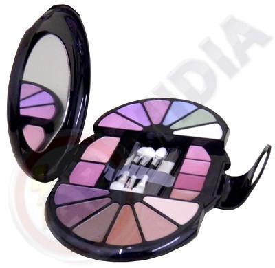 Maquiagem Kit Blush Baton Sombra Pincel Espelho Case Luxo