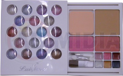 Maquiagem Kit 22 Sombras 2 Blushs 3 Batons Espelho Rosto