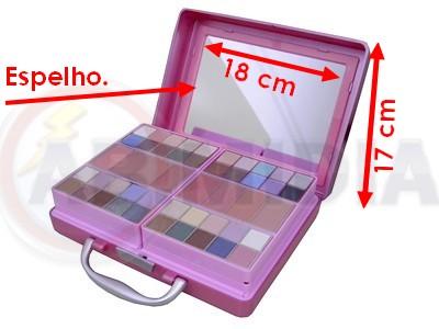 Maquiagem Kit Maleta Case Portatil 78 Itens Sombra Blush
