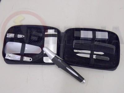 Depilador Mini Aparador Kit 9 Itens Barba Pelo Cabelo Unhas