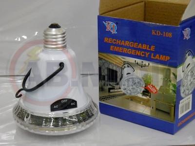 Lampada emergencia recarregavel 16 leds luminaria iluminaçao