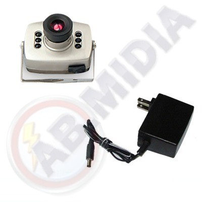 Micro Camera Espiao Segurança Audio Video Cmos Color 380 L