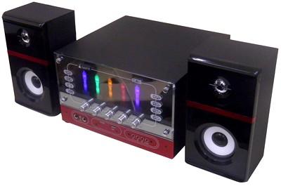 Mini system caixa som karaoke USB mp3 cartao memoria sd mmc (AR-139A) #L2.5