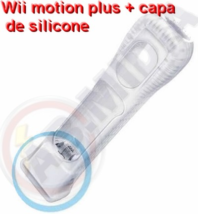 Wii Motion Plus + Capa Silicone Adaptador Nintendo Wii Games (MC17645)