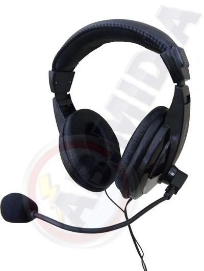 Fone de ouvido headphone lan house microfone computador pc (JLG015) #D2,3