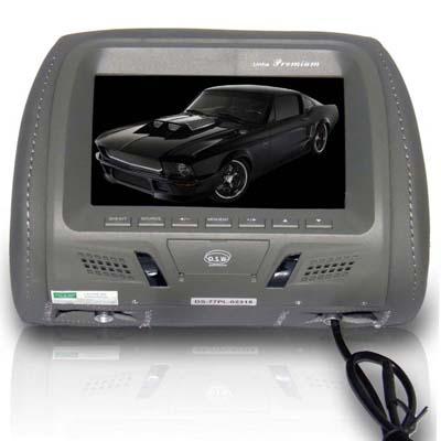 Encosto Cabeça Dvd Tela Lcd 7 Automotiva Veicular Gps Game (DS77EC) (000721) ok