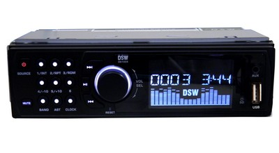 Radio Automotivo Lcd Mp3 Player Usb Cartao Memoria Am Fm Rca (DS1005 #B2.2)