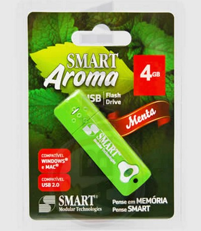 Pen Drive 8 Gb Aroma De Menta Notebook Computador Smart Usb (PD204)