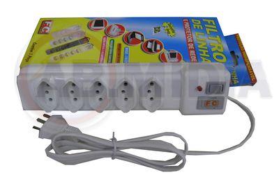 Filtro de linha com 5 tomadas protetor de rede acessorio FC (13249)
