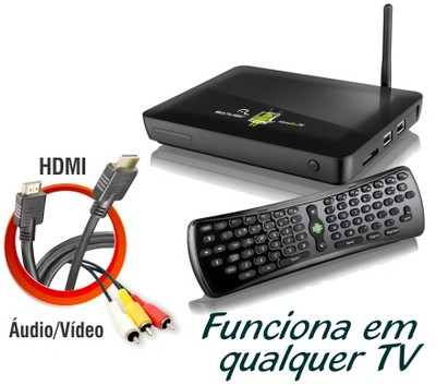 Internet Box Tv Android Wi Fi Televisao Computador Hdmi Hdtv (NB010) #A