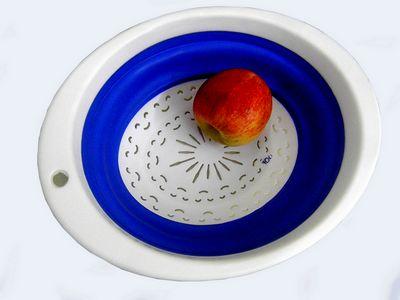 Tigela Flexivel De Silicone Saladeira Fruteira Cozinha Casa(8752) #H