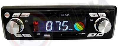 Radio Automotivo Mp3 Usb Cartao Fm Am Carro Som Pen Drive ( Pc-508) #D
