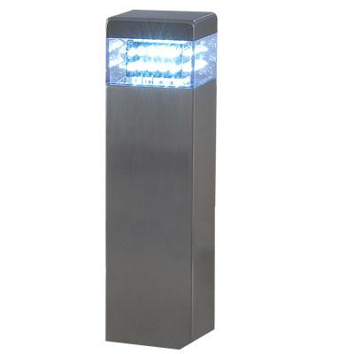 Poste Luminaria 30 Leds Luz Branca Aco Inox Vidro casa quintal iluminacao (LEDJ1508) # I