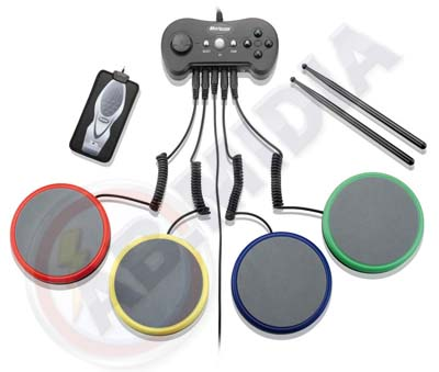 Bateria Rock Band Baqueta Playstation Ps2 Ps3 Wii guitar hero (JS047)