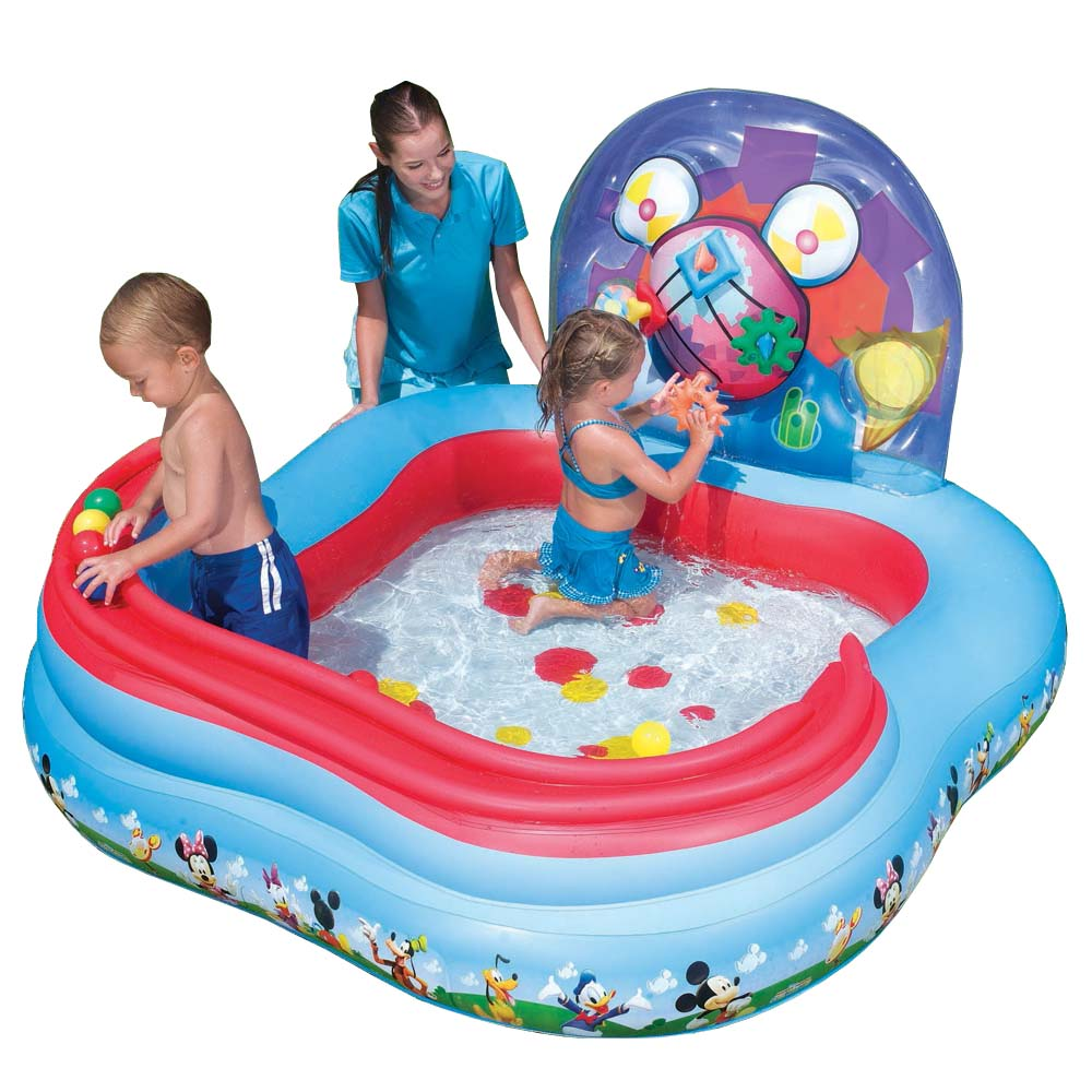 Piscina inflavel infantil mickey mouse disney crian a for Piscina best way