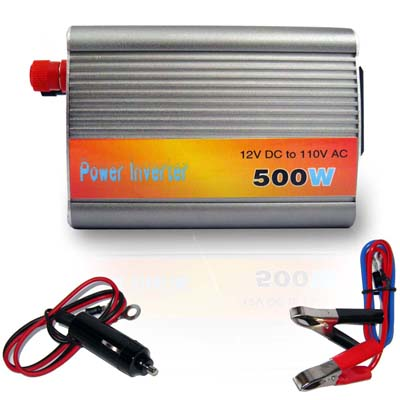 Transformador conversor Inversor de tensao  500W notebook netbook tv camera mp4 laptop (500W) #A