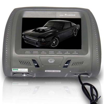 Tela Lcd 7 Automotiva Veicular Encosto Cabeça Dvd Gps (DS-77PL-023)