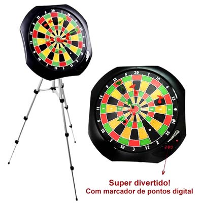 Jogo dardos digital magnetico pontos tripe alumino (009179) # O
