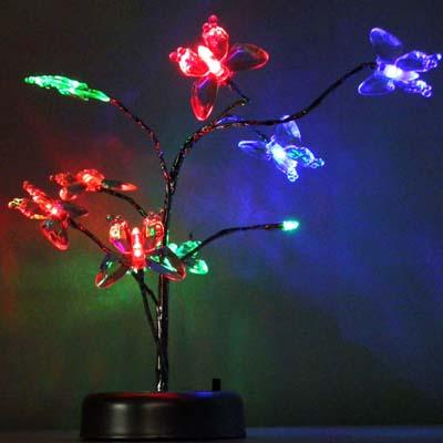 Luminaria pisca pisca LED natal aves borboletas passaros fonte pilha colorida natalino maleavel (4077)