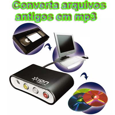 conversor digital video cassete DVD USB audio musica vinil grava reproduz alta qualidade computador(video2pcmk) #C