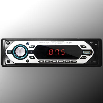 Som radio automotivo USB cartão de memoria veicular musica mp3 auxiliar audio (ar5400)