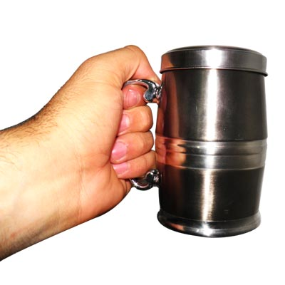 caneca termica suporte cha tampa380 ML aco escovado camping conserva quente gelada bebidas  (77820)
