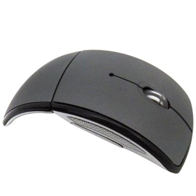 Mouse dobravel wireless 1600 dpi 10 m 2.4GHz pratico pilha optico plug and play USB sem fio (17597-A)