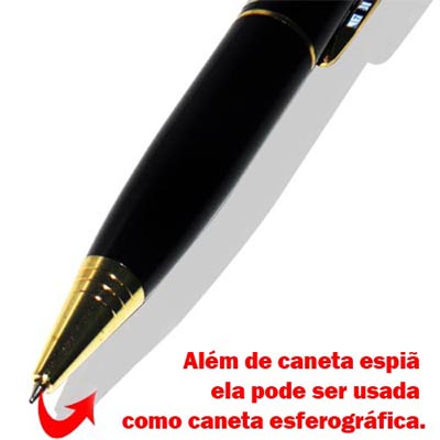 Caneta Espia Filmadora 4GB Foto Audio E Video Micro camera espionagem  (39662) #A