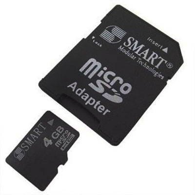 Cartao de memoria micro SD 4GB smart adaptador trava seguranca hd armazenamento (SD002)
